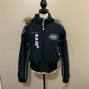 🆕 New York Jets Women's Bomber Jacket With Hoodie